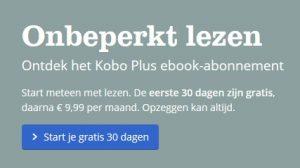 Link naar Kobo ebook abonnement